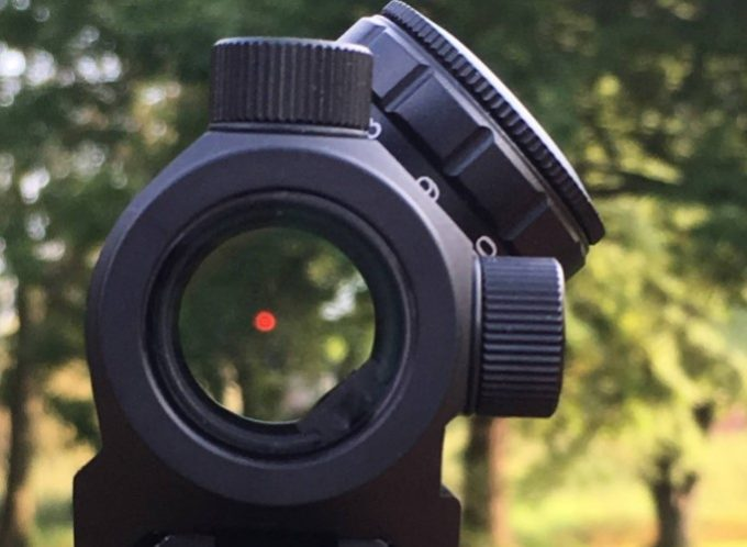 red dot sight view