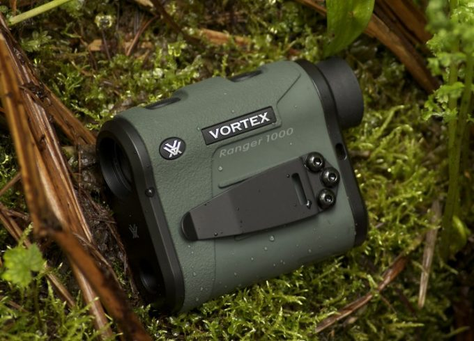 vortex rangefinder on the grass