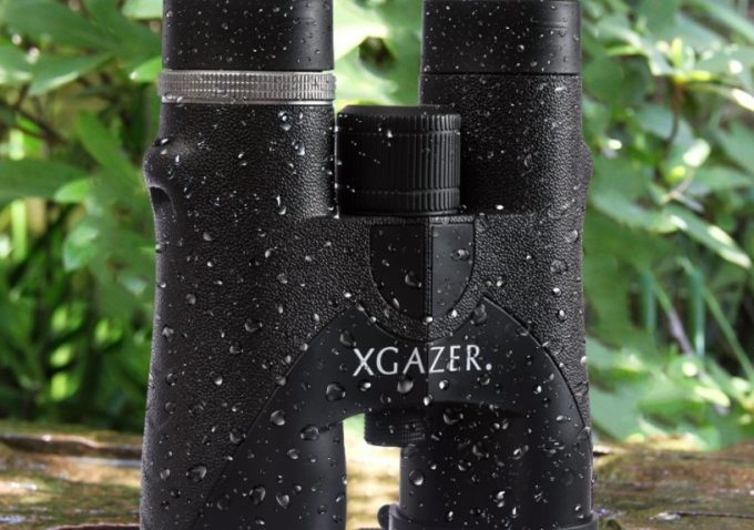 waterproof binoculars on table