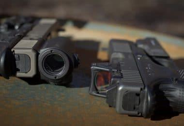 Red dot sights on handguns