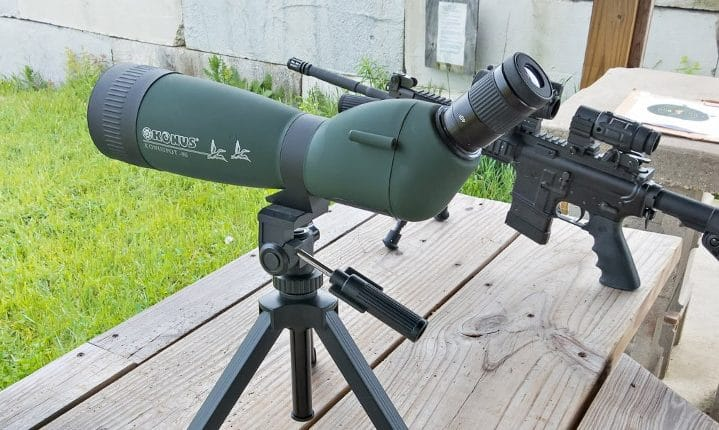 Spotting scope and rifle