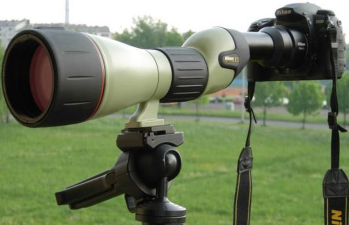 Spotting-scope-on-camera