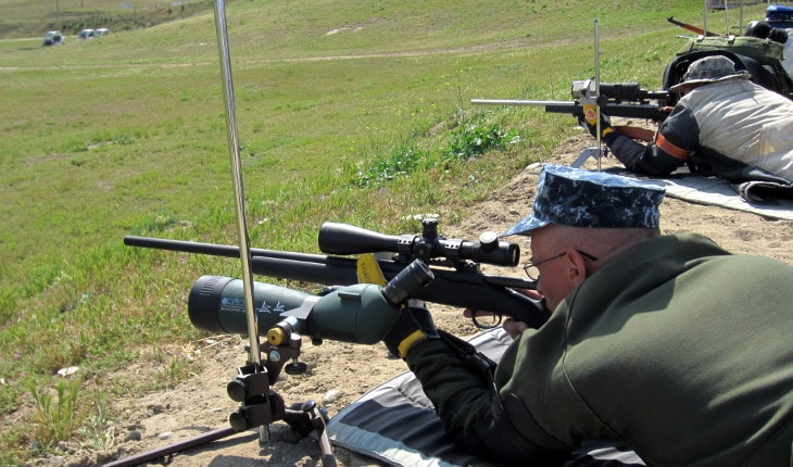 Target shooting spotting scopes