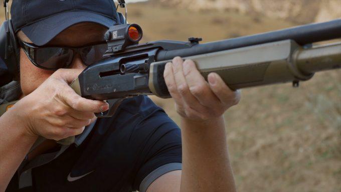 shotgun with red dot sight