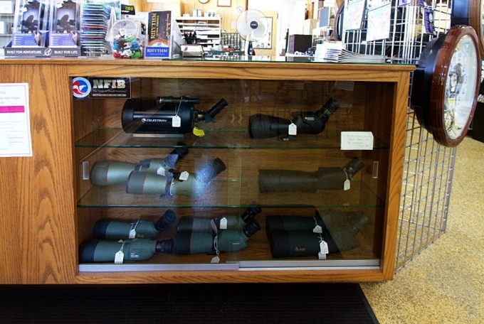 spotting scopes in store