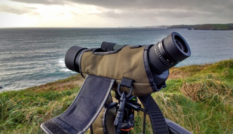 Sleeved spotting scope