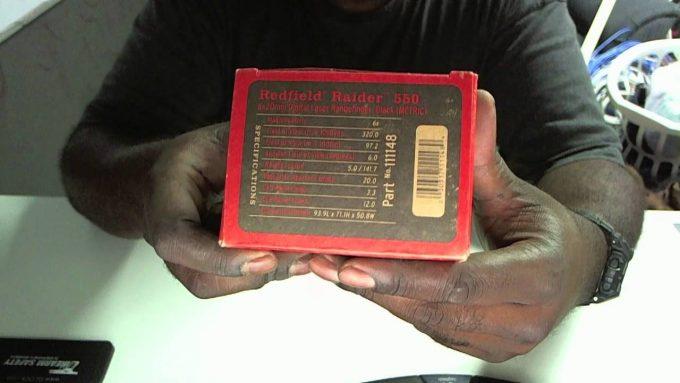 Redfield Raider 600 Rangefinder package box