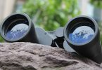 Binoculars left on a rock