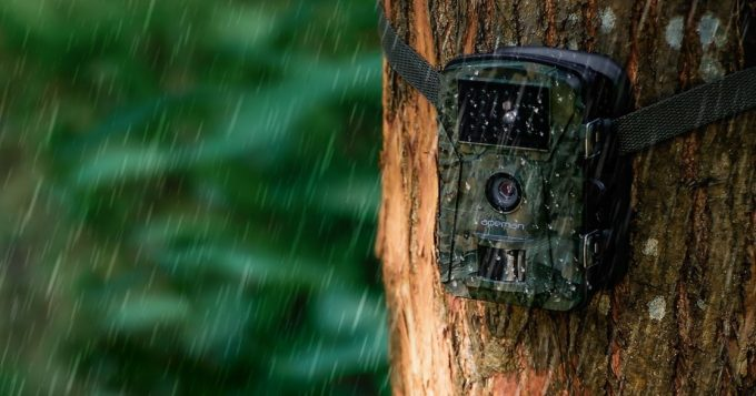 trail camera on rain