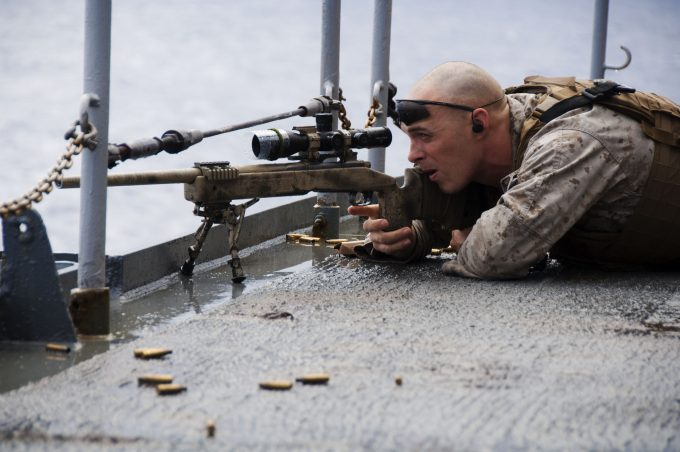 aim through scope