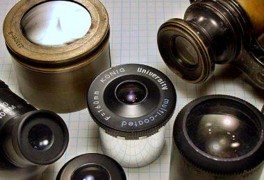 Assortment of lens eyepieces