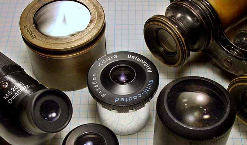 Assortment of lens eyepieces