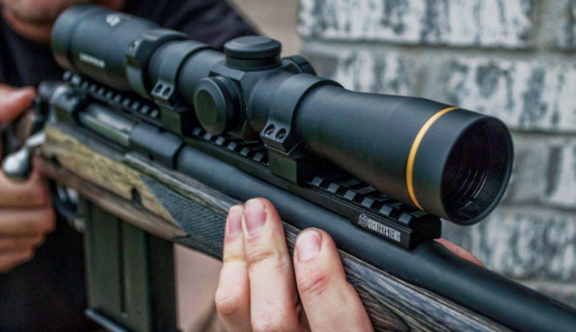 Low light scope rifle