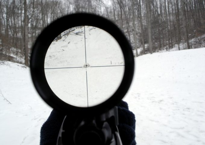 Optical capabilities on air rifle scope