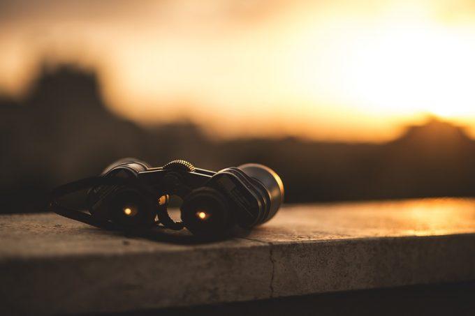 Scope View Binoculars Optical Lens Distance Focus