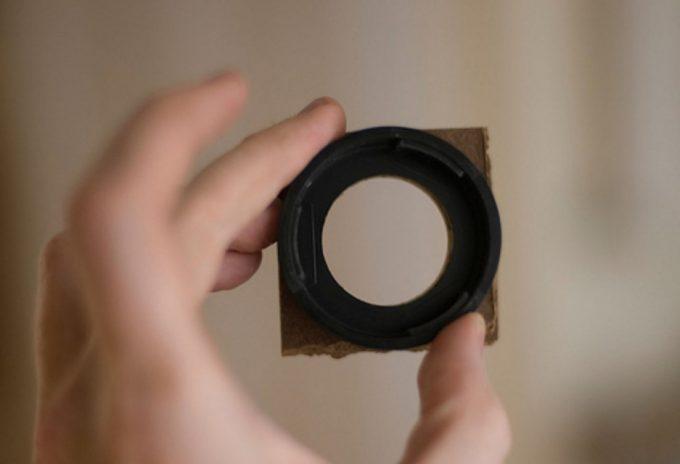 glued eyepiece lens