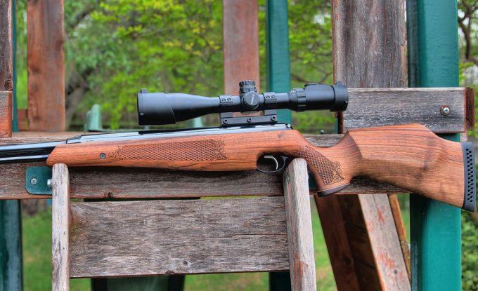 pellet gun scope on gun