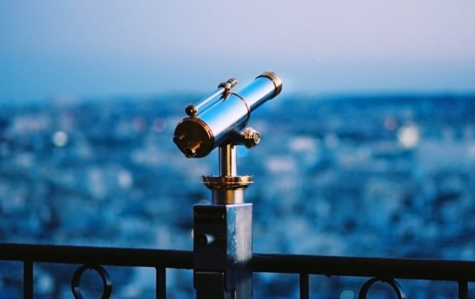 telescope over a balcony