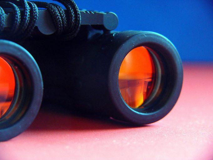 Observer Blond Binoculars Watch See Sharp View