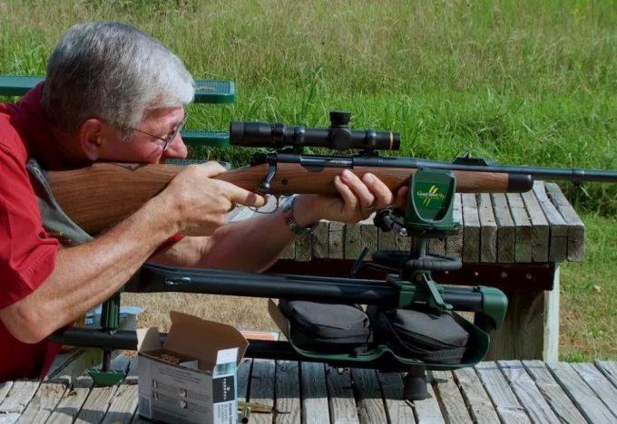 gun positioning before shooting