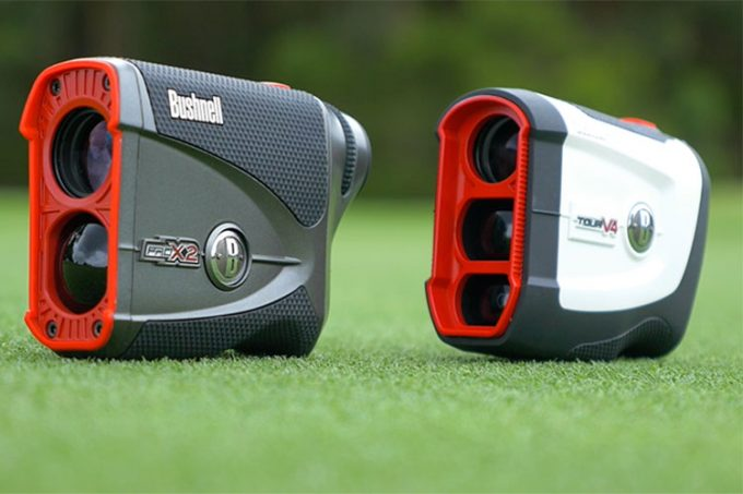 rangefinders on golf course