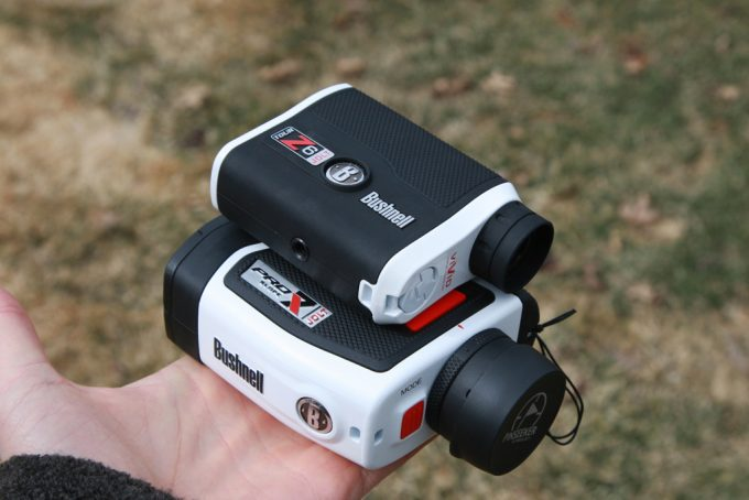 two bushnell rangefinders on hand