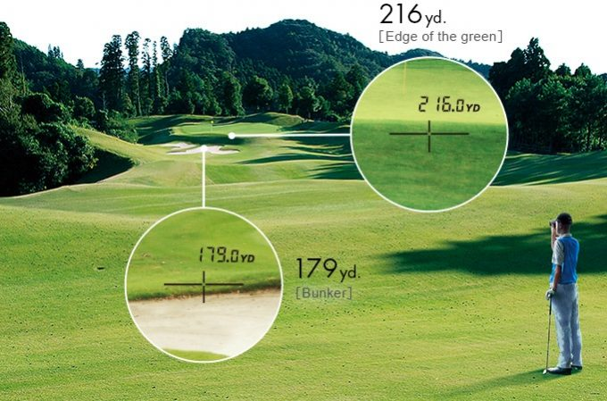 Golf Rangefinder Measuring