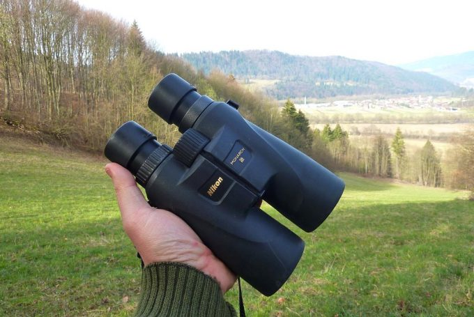 Nikon Monarch 5 in a Hand